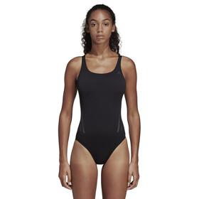 adidas Pro 3-Stripes Swimsuit Damer, black/carbon
